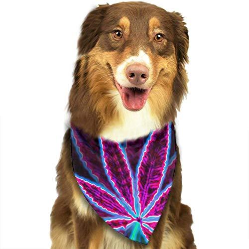 Hipiyoled Nette lustige Haustier-Schal-Krawatten-Unkraut-Adjustbale-Haustier-Bandanas-Kragen-Dreieck-Halstuch (Unkraut Schal)