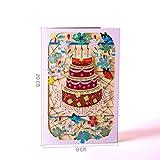 Exing Geburtstagskarte Graduierung,Grußkarten Handmade Geburtstag Hochzeitseinladung 3D Pop Up Card Flower