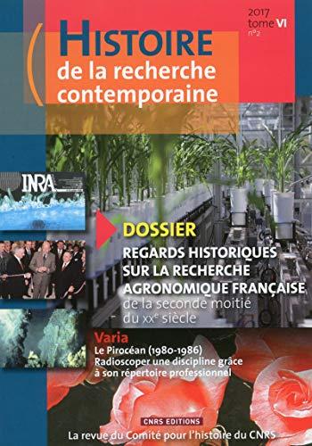 Histoire de la recherche contemporaine - tome 6 numéro 2 (06)