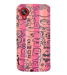 EPICCASE Fashion Case Mobile Back Case Cover For LG Google Nexus 5 (Designer Case)