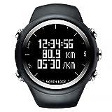 North Edge mens orologio digitale GPS running Watch impermeabile intelligente attività fitness tracker
