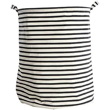 house doctor w schekorb w schesack stripes schwarz wei h he 50 cm 40 cm. Black Bedroom Furniture Sets. Home Design Ideas