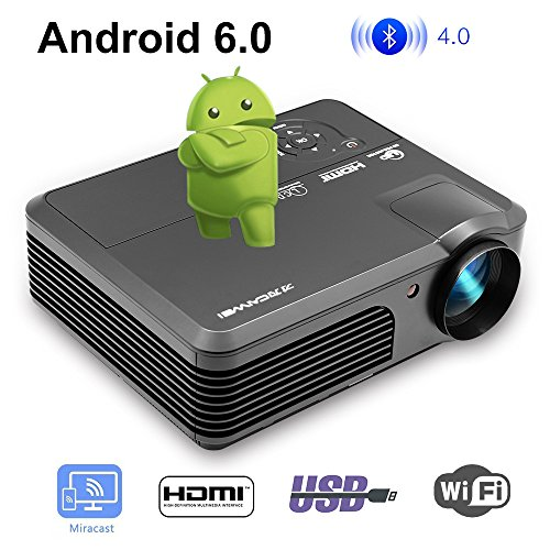 LED HD 1080P Inicio WiFi Proyector Bluetooth LCD 4200 lúmenes WXGA Android...