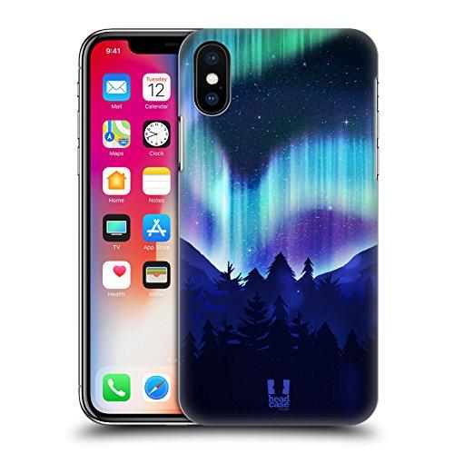 Head Case Designs Loup Fou Aurore Boréale Étui Coque Rigide Pour Apple iPhone 4 4S Bois De Pin