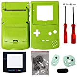 Timorn Sostituzione Case Cover Shell alloggiamento pieno per GBC Gameboy Color (Verde)