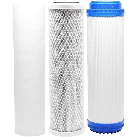 Ersatz Filter Kit für Everpure cgs-12ev910012RO System–inkl. Carbon Block Filter, Sediment Filter & GAC Filter–Denali Pure Marke
