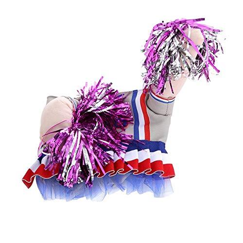 Hunde Kostüm Cheerleader - MSSJ Lustiger Hund Katze Kostüme Boxer, Arzt, Krankenschwester Cosplay Anzug Haustierkleidung Halloween Uniform Kleidung für Welpen Hunde Kostüm für eine Katze M Cheerleader