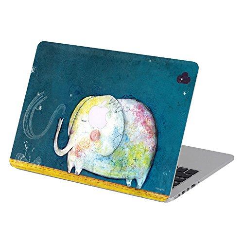 Creativo cartone animato serie speciali design ultra sottile resistente all'acqua custodia rigida per new macbook 12 pollici a1534 con display retina (ultima versione 2017/2016/2015) (elefante)