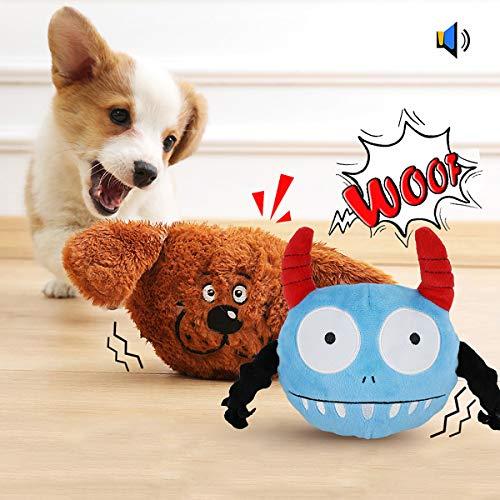 Namsan Hundespielzeug Bounce Interaktives Spielzeug für Hunde mit Zwei Attraktiven - Hundespielzeug Vibration