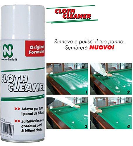 Longoni Biliardo Cloth Cleaner Comodo ed indispensabile Spray specifico per smacchiare e Tenere Pulito Il Panno del Biliardo.
