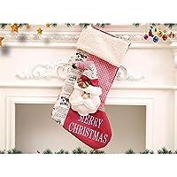Hermosa decoración navideña Bolso Tridimensional del Regalo de la Bolsa del Caramelo de la Media de