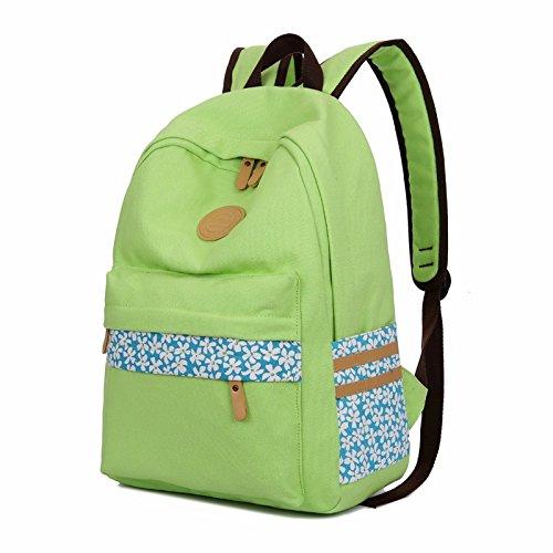 neue leinwand rucksack schulmädchen schoolbag schüler computer - tasche der wind,lake blau grüne