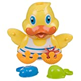 Invero® Early Developmental Bath Time Duck Game Toy Play Set - Ideal for all Babies, Toddlers and Kids