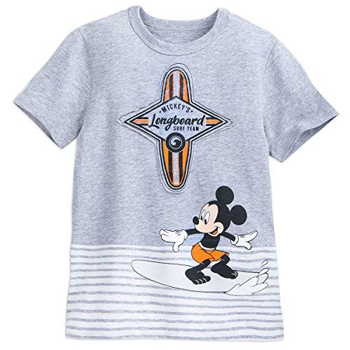 DisneyParks Longboard Surf Team Surfer Mickey Mouse Jungen Shirt - Grau - XL