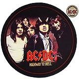 Rockbites - Runder Teppich AC/DC Highway to Hell, D: 50 cm - Teppich für Proberaum, Tonstudio