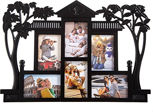 Smera Plastic Photo Frame (Photo Size - 15*10 cms, 6 Photos),Black