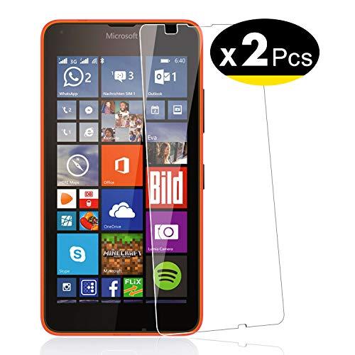 NEW'C Lot de 2, Verre Trempé pour Nokia Microsoft Lumia 640, Film Protection écran - Anti Rayures - sans Bulles d'air -Ultra Résistant (0,33mm HD Ultra Transparent) Dureté 9H Glass