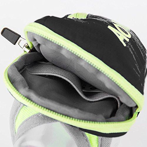 Imagen de aonijie bolsa de nylon para maratón de mano  de hidratación senderismo ciclismo running eléctrica bolso de mano para 250ml botella de agua deportes al aire libre, negro alternativa