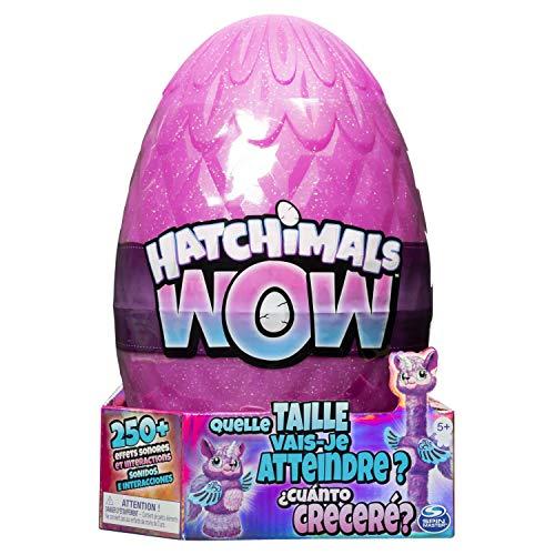 Hatchimals 6046989 - Wow Llalacorn interaktives Ei, mehrfaches Schlüpfen, 10 Stimmungen, wächst bis zu 80 cm, 250 Geräusche und Reaktionen