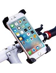 Fahrrad Handyhalterung Handyhalter Verstellbar für Universal Handy iphone / Samsung / Outdoor Fahrradhalterung Fahrrad Lenker 360°Drehbare Handyhalterung Handy GPS Halter-Schwarz GuanweuShop