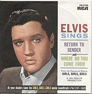 Elvis Presley With Jordanaires, The - Return To Sender - RCA Victor - PB 2706