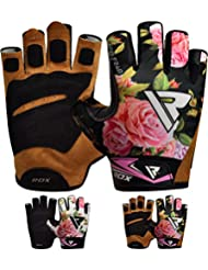 RDX Gym Weight Lifting Gloves Women Workout Fitness Ladies Bodybuilding Exercise Crossfit Breathable Powerlifting Wrist Support Strength Training