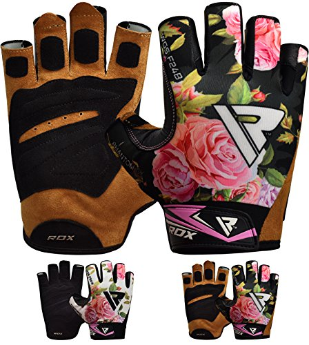 RDX Guantes Gimnasio Mujer Fitness Culturismo Musculacion Gym