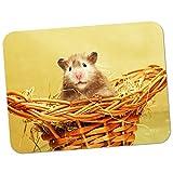 Hamster in Korb Hochwertiges dickes Gummi-Mauspad mit weicher Komfort-Oberfläche