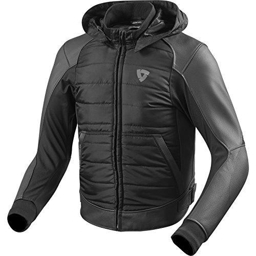 *REVIT BLAKE Herren Motorradjacke Sport Leder/Textil – schwarz Größe 52*