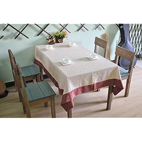 Mantel De gama alta Lino De Lino Grueso Clásico De Costura De Mano Toalla De Mantel Mantel ( Color : A , Tamaño : 140*200cm )