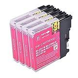 4Magenta PerfectPrint Kompatible Tintenpatrone ersetzen LC1100LC980LC 1100LC 980Für Brother MFC-250C 255CW 290C 295CN 297C 790CW 490CN MFC-5490CN MFC-5890CN MFC-795CW MFC-6490CW MFC-6890CDW MFC-990CW DCP-145C DCP-163C 165C DCP-167C DCP-185C DCP-195C 365C DCP