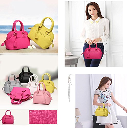 Women Tote Pu All Seasons Casual Baguette Zipper Giallo Nero Beige Rosso Rosa Rosso Rosso , Beige pink