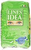 Lines - Assorbenti Idea, Liberty, anatomico, ipoallergenico, con molecula attiva - 14 pezzi