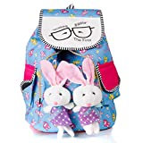 #3: Dakshinkala girls,s backpack bunny bag (multi design,10x23x38 cm)