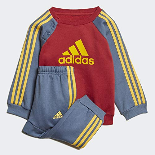 adidas Unisex-Kinder I Logo Jog FL Trainingsanzug, Maract/Tintec/Oroact, 98