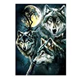 ECMQS Wolf DIY 5D Diamant Painting Full Set, Crystal Strass Stickerei Painting Diamond Dekoration Für Home Wall Décor