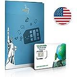 SIM prepago EEUU - 1GB 4G LTE - lllamadas y mensajes de texto Internacionales - 30 días