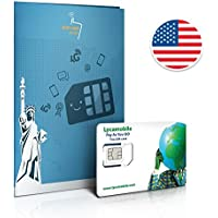 Sim Prepagata USA - 6GB 4GLTE - Chiamate e messaggi internazionali - 30 giorni