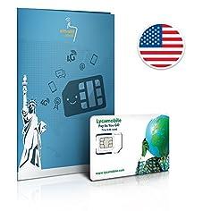 Prepaid Sim Karte USA 4GB...