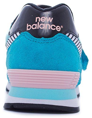 New Balance KV574 SUEDE/MESH/PU - lxy blue/pink Green/Pink/Black