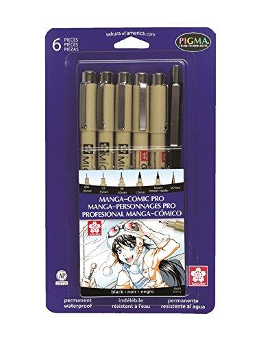omic Book Pro Drawing Kit 6/Pkg-Black ()