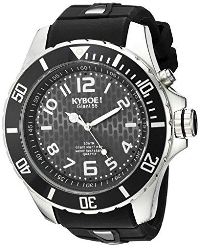 KYBOE Unisex-Erwachsene Analog Quarz Uhr mit Silikon Armband KY.55-002.15