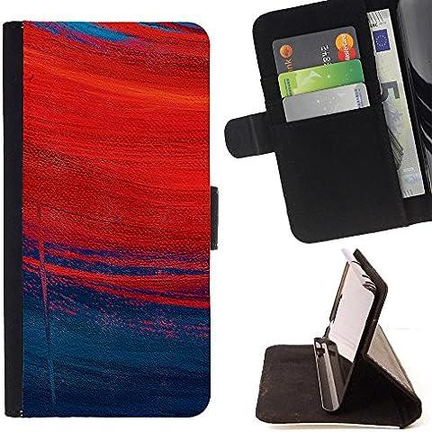 LG X Mach / X Fast - Dibujo PU billetera de cuero Funda Case Caso de la piel de la bolsa protectora Para (Redhead lluvioso profunda Arte