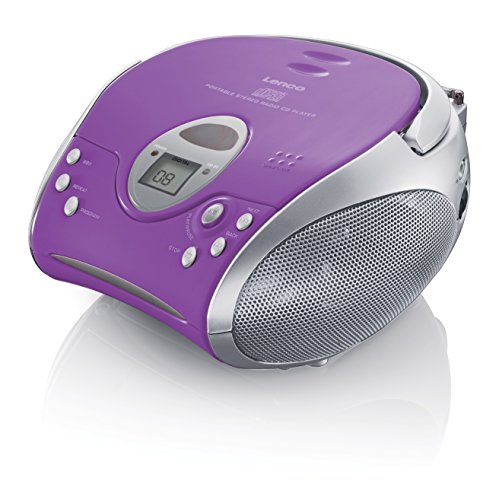 Lenco SCD-24 purple  CD-Player mit Stereo UKW-Radio und Teleskopantenne Lila