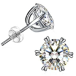 Earrings for Women, J.Rosée Jewellry, 925 Sterling Silver 5A Cubic Zirconia Pure Love, Best Gifts for Women with Gift Packed, Graduation Gifts