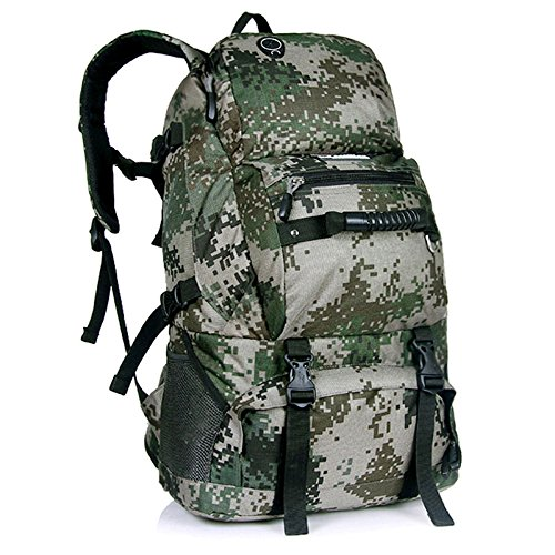 Padgene Groß Outdoor Rucksack Gepäck 40L Wasserdicht Trekkingrucksäcke Backpacker Reiserucksack (Rot) Camouflage