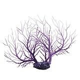 sourcing map Kunststoff See Koralle Pflanze Betta Tank Aquarium Landschaft Ornament Weiß Lila DE