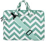 MOSISO Chevron Borsa Laptop Custodia Cover con Tracolla per 15-15,6 Pollici Nuovo 2018/2017/2016 MacBook Pro con Touch Bar A1990/A1707, MacBook Pro, Notebook, Compatibile con Ultrabook da 14 Pollici, Blu Caldo