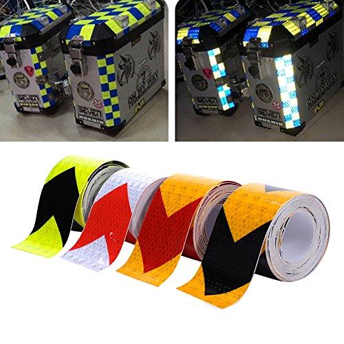 Preisvergleich Produktbild 4 Farben 5cmx5m Reflektorband Sicherheitsband Warnklebeband Reflexionsfolie Reflexstreifen selbstklebend reflektierend für Fahrrad, Joggen, Auto Pkw / LKW (Green)