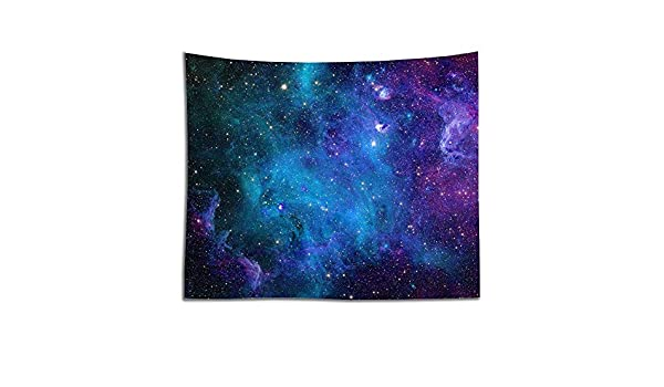 Deciduous Tapestry Wall Hanging Galaxy Star Cluster Universe Milky Way Outer Space Mural Psychedelic Starry Sky Mandala Tapestries Polyester Fabric for Bedroom Living Room Dorm Decor,galaxy,150X100cm